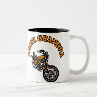 BIKER GRANDPA Two-Tone COFFEE MUG