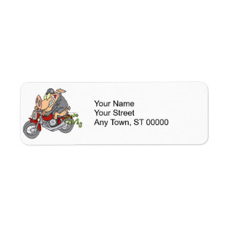 biker hog pig motorcycle bike cartoon