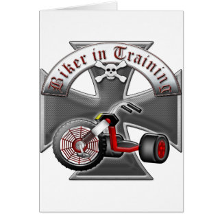 Biker in Training Card