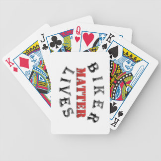 Biker Lives Matter Bicycle Playing Cards