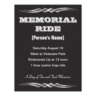 Biker Memorial Ride invitation flyer