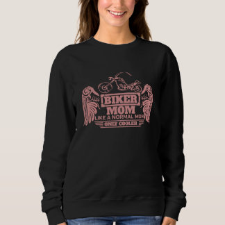 Biker Mom Motorcycle Pink Print Sweatshirt