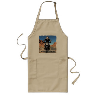Biker Motorcycle Road - Insert YOUR Photo & Text - Long Apron