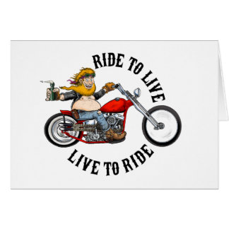 biker motorcyclist wrinkles to live card