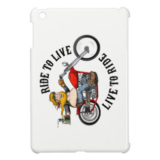 biker motorcyclist wrinkles to live iPad mini covers