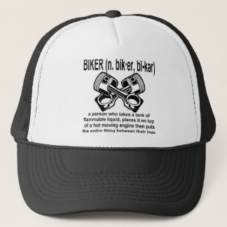 Biker (n) Definition: A Person Who Takes A Tank Of Trucker Hat
