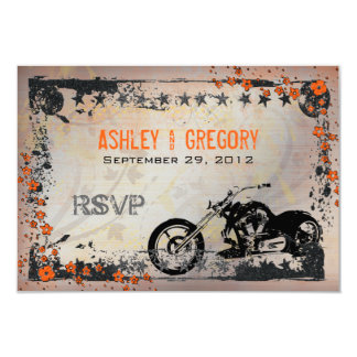 Biker or Motorcyle Wedding RSVP Response card