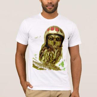 Biker Owl with Helmet T-Shirt