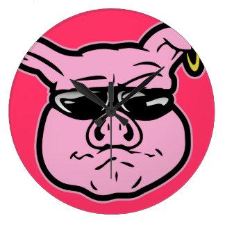 Biker Pig Clocks