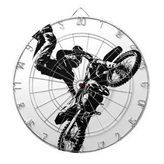 biker pop art motorcycle acrobatic speed sport dartboard