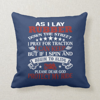 BIKER PRAYER THROW PILLOW