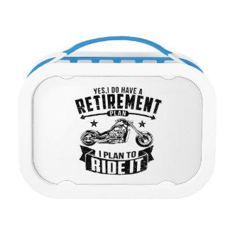 Biker Retirement Lunch Box