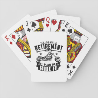 Biker Retirement Playing Cards