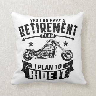Biker Retirement Throw Pillow