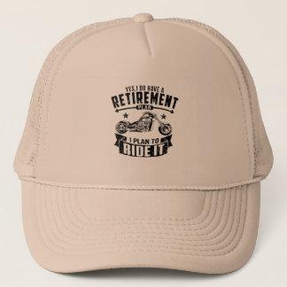 Biker Retirement Trucker Hat