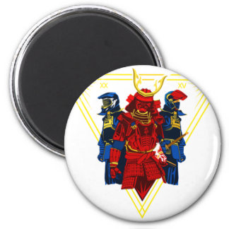 Biker Samurai Crew T-Shirt Magnet