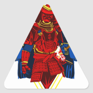 Biker Samurai Crew T-Shirt Triangle Sticker