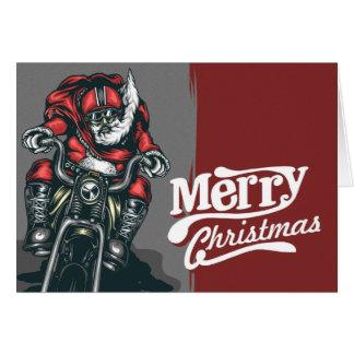 Biker Santa Christmas Greeting Card