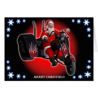 Biker Santa is coming to town Card
