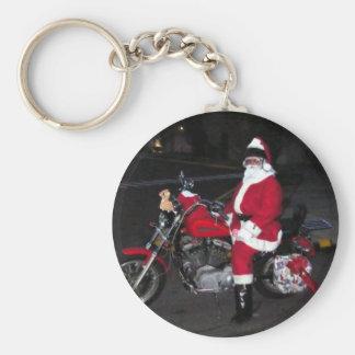 Biker Santa Keychain
