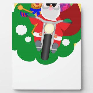 Biker Santa Plaque
