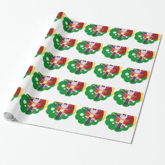 Biker Santa Wrapping Paper