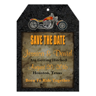 Biker Save The Date Card