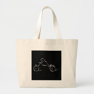 Biker showing road safety jumbo tote bag
