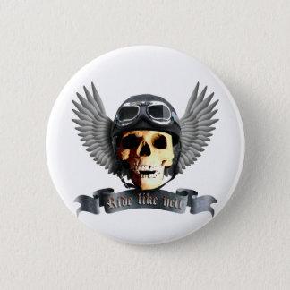 Biker Skull A 2 Inch Round Button
