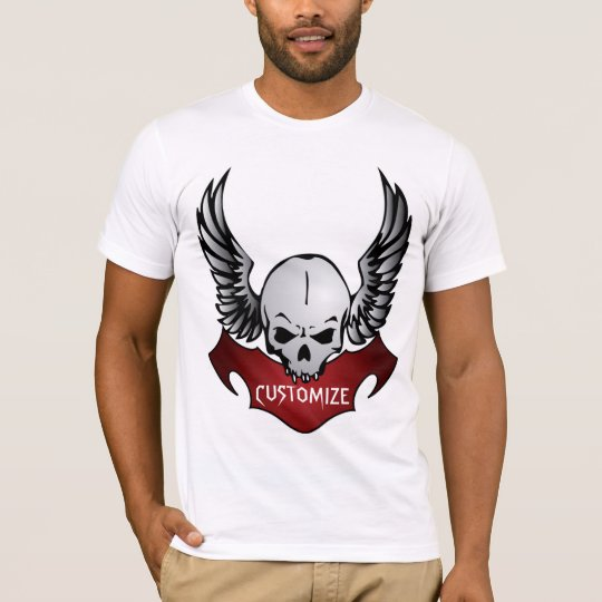 Biker Skull Customizable T-Shirt