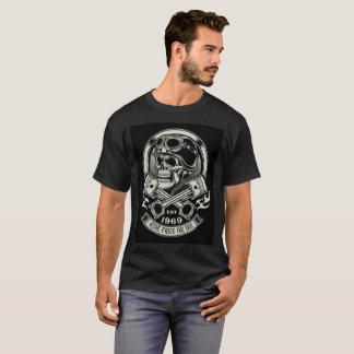 Biker Skull with Piston T-Shirt