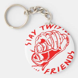 Biker Stay Twisted My Friends Basic Round Button Keychain