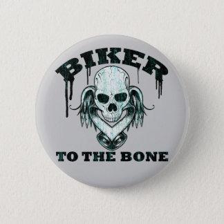 BIKER TO THE BONE 2 INCH ROUND BUTTON