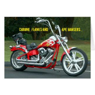 Biker V-twin Harley Road Rash Get Well Soon Card