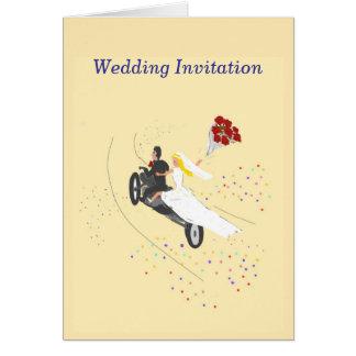 Biker Wedding Invitation Greeting Card