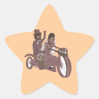 Biker Wedding Products Star Sticker
