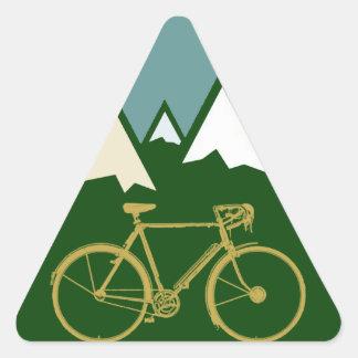 bikers adventure, mountains triangle sticker
