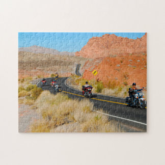 Bikers in Nevada. Jigsaw Puzzle