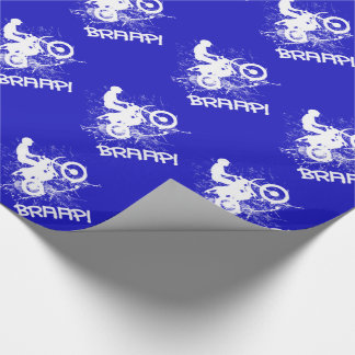 Bikers Motocross Dirt Bikers Mud Splatter Braap! Wrapping Paper