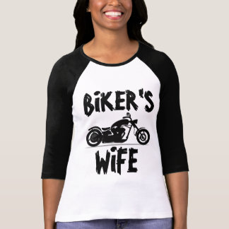 BIKER'S WIFE Ladies Motorcycle T-shirts