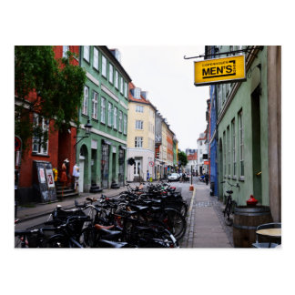 Bikes in Old Copenhagen Street Postcard