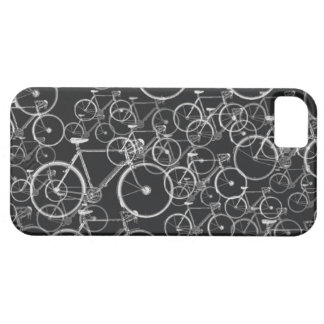 bikes pattern in black and white iPhone 5 cover