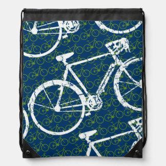 bikes patterned drawstring bag