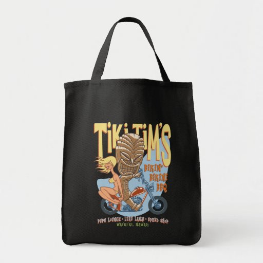 Bikin' Bikini BBQ Tote Bags