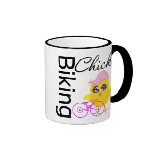 Biking Chick Ringer Mug
