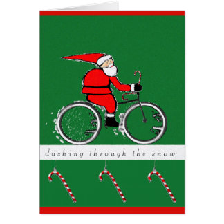 biking Christmas cards