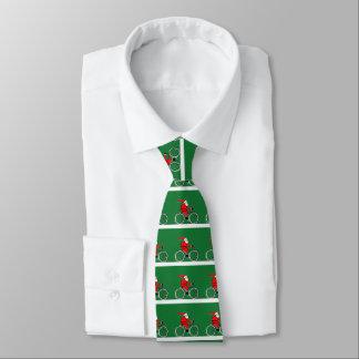 Biking Christmas Tie