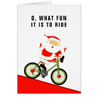 biking holiday cards