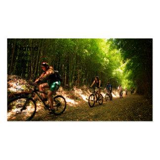 Biking in bamboo trail business card