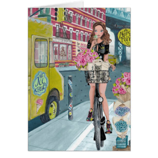 Biking in Brooklyn NY | Greeting Card